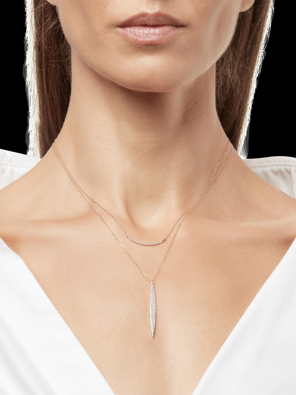 Large Pavé Curve Necklace Adina Reyter