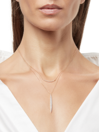 Large Pavé Marquise Necklace