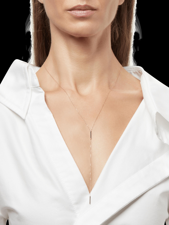 Pavé Double Bar Lariat Necklace Adina Reyter