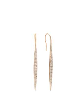Large Pavé Marquise Earrings