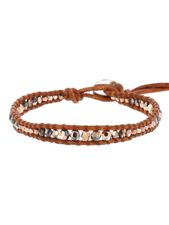 Rose Gold Single Wrap Bracelet