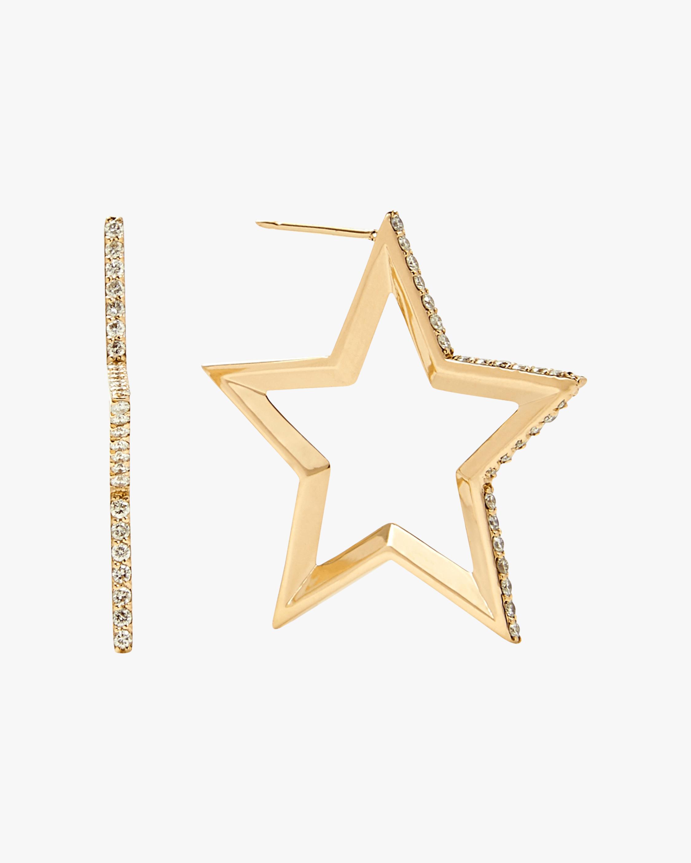 kWIT STAR Hoop Earrings 0