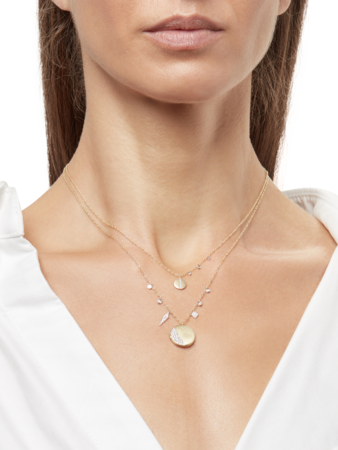 Gold Locket Necklace with Diamonds