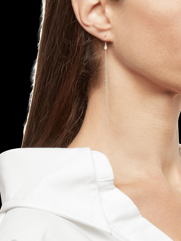 Gold Fringe Earrings with Diamonds