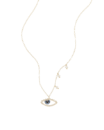 Meira T Gold Necklace with Evil Eye and Pearls 0