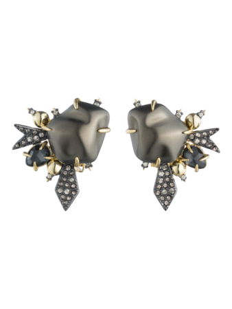 Baroque Pearl Burst Clip Earring