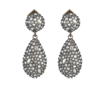 Pavé Pod Drop Post Earring
