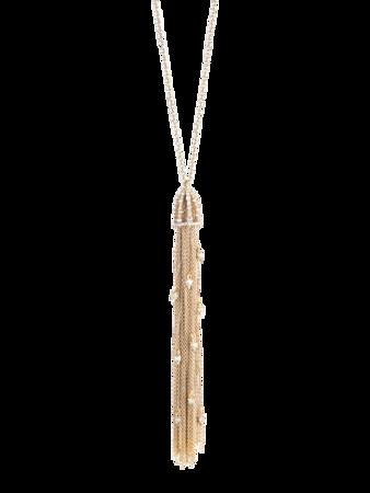 Cascading Crystal Tassel Pendant