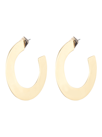 Liquid Metal Orbit Hoop Gold