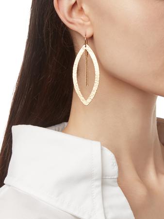 Paris Single Eye Chain Earrings