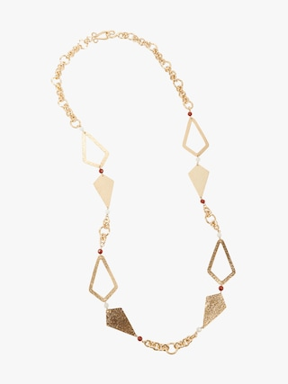 Stephanie Kantis Hope Necklace With Red Jasper & White Quartz Necklace 1