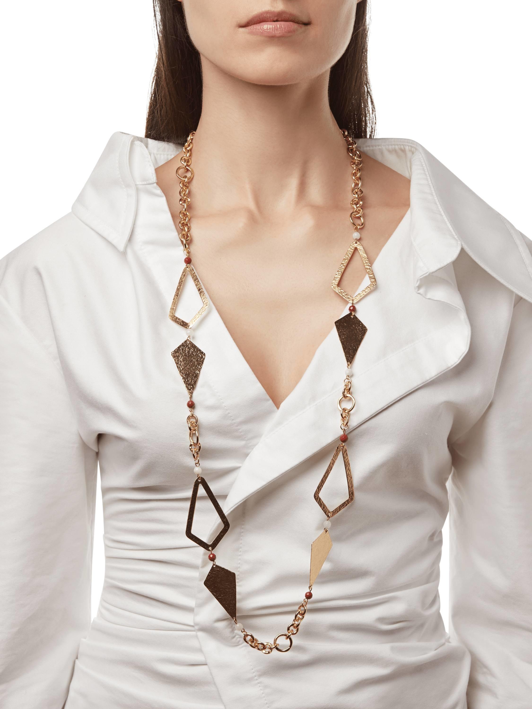 Stephanie Kantis Hope Necklace With Red Jasper & White Quartz Necklace 2