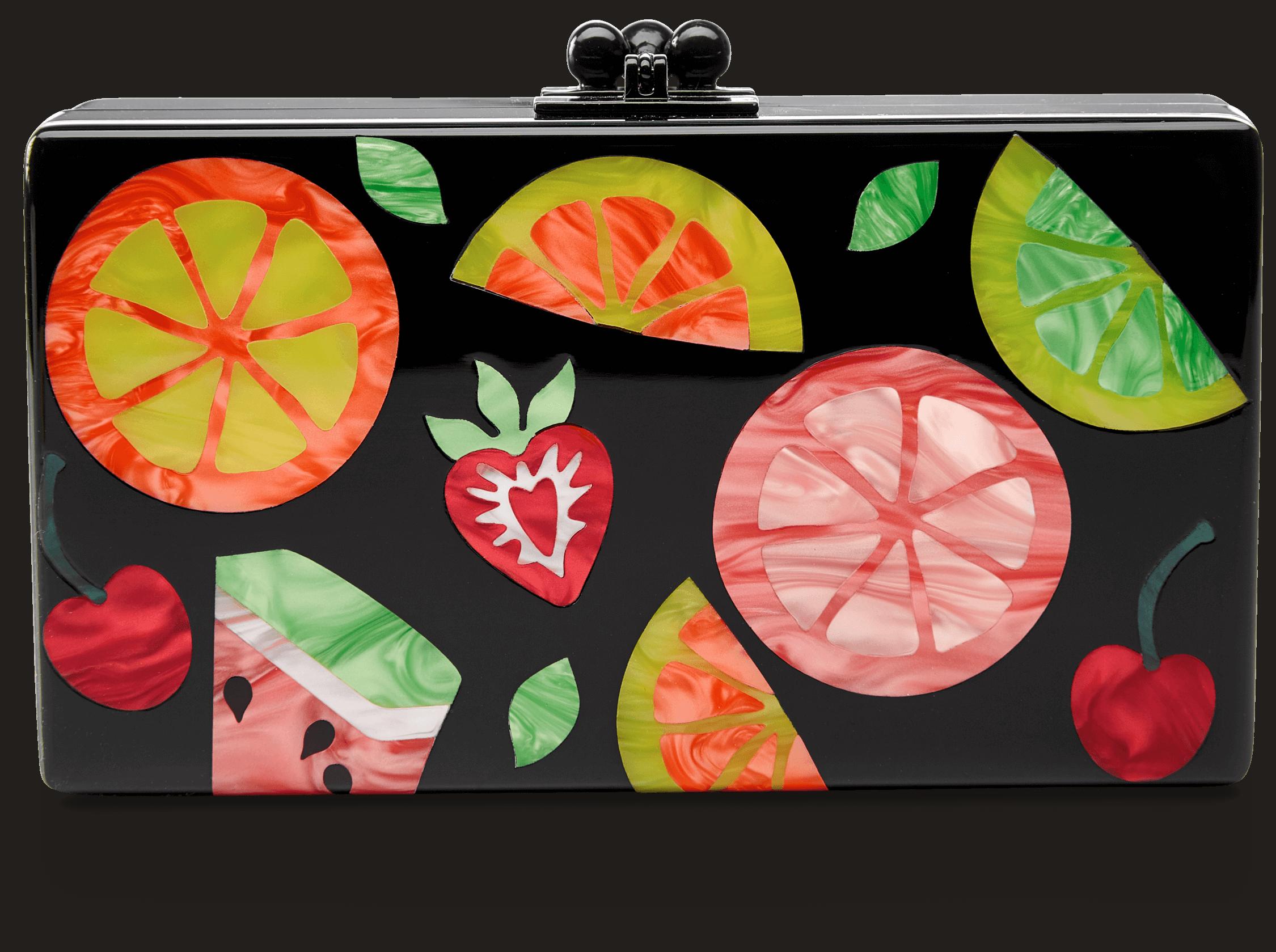 Jean Fruit Cocktail Clutch