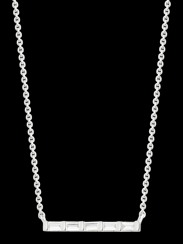 Sadie Pearl Diamond Bar Necklace