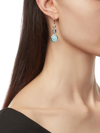 Rock Candy 3-Stone Drop Earrings