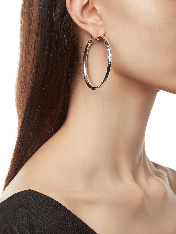 Classico Large Hammered Hoop Earrings
