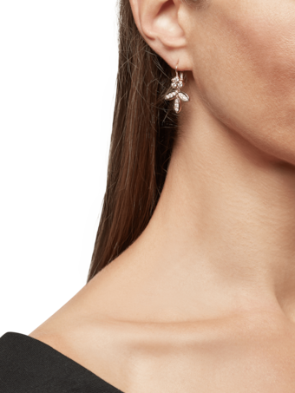 Foglia Earrings with Diamond Pavé