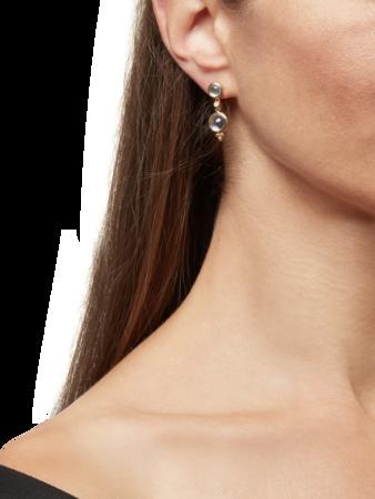 Double Drop Earrings with Diamond