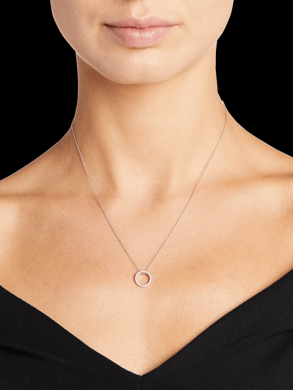 Roberto Coin Petite Circle Pendant Necklace 2