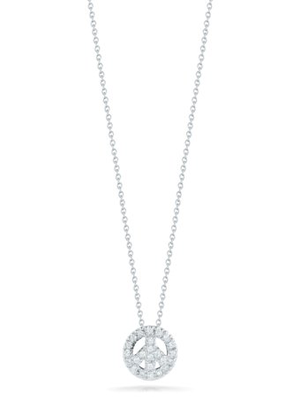 Mini Peace Sign Pendant Necklace