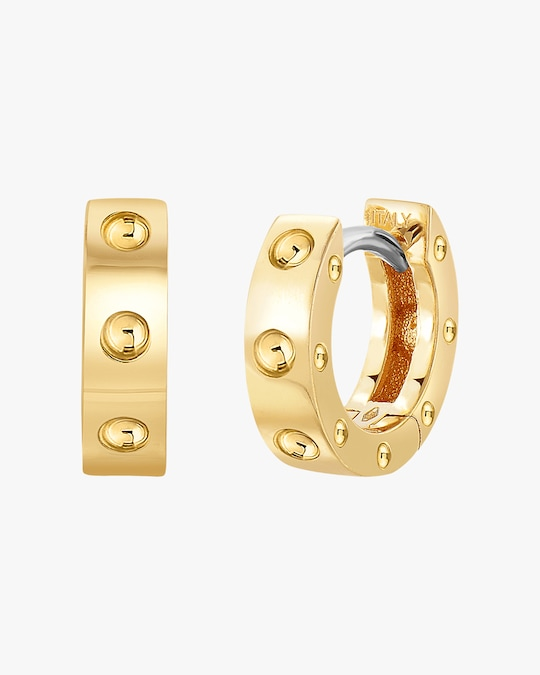 Roberto Coin Pois Moi Huggie Hoop Earrings 0