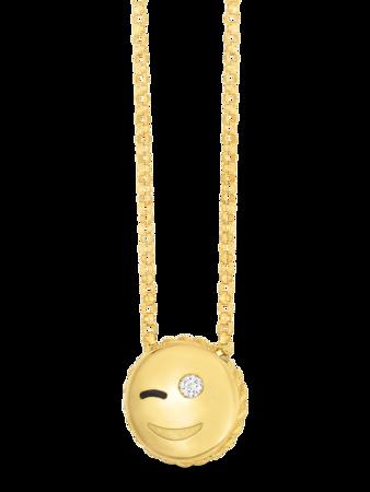 Wink Emoji Pendant Necklace