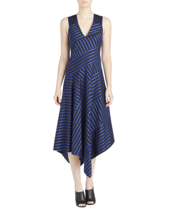 Sleeveless Dress with Asymmetric Hem image two