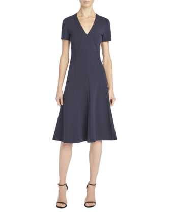 V-Neck Cap Sleeve Dress
