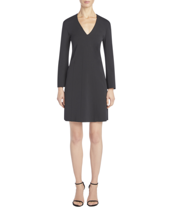 Long Sleeve V-Neck Dress image two
