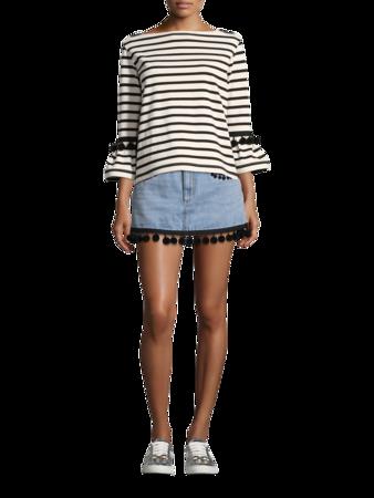 Pom Pom Mini Skirt