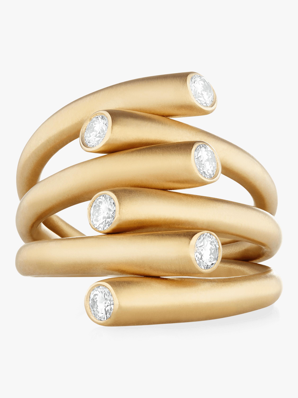 Whirl Diamond Ring