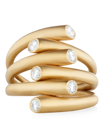 Whirl Diamond Ring
