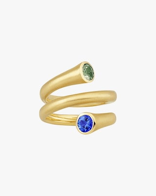 Carelle Whirl Sapphire Spiral Ring 2