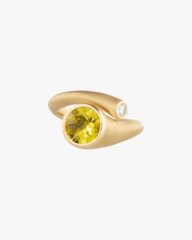 Carelle Whirl Yellow Beryl & Diamond Ring 2