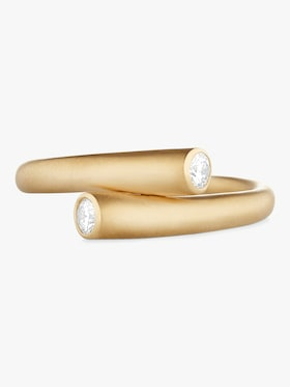 Whirl Single Diamond Ring
