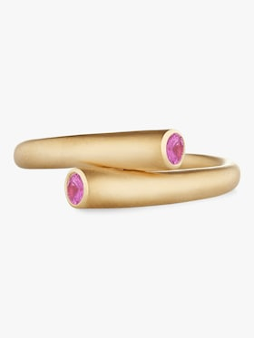 Whirl Single Pink Sapphire Ring