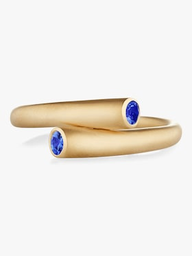 Whirl Single Sapphire Ring