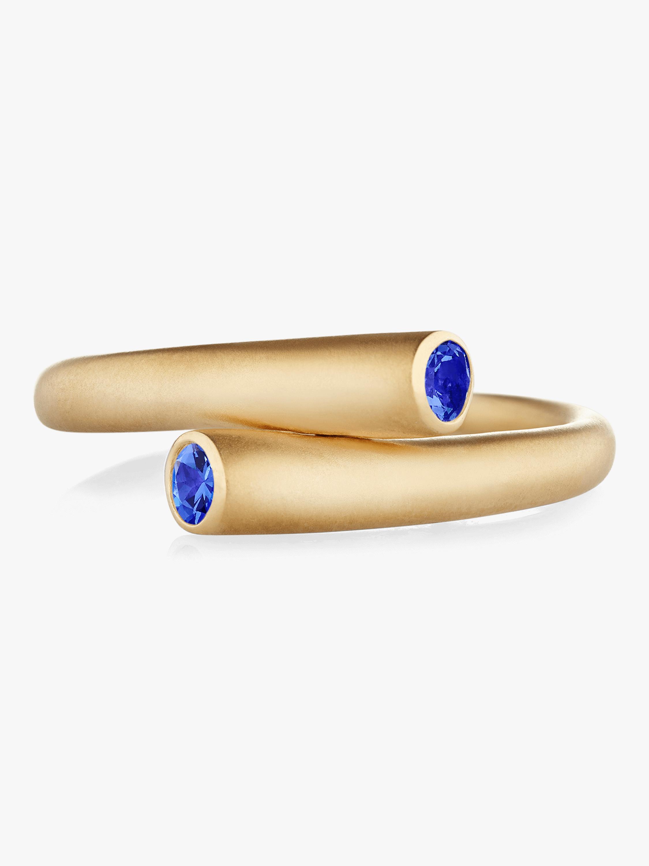 Whirl Single Sapphire Ring