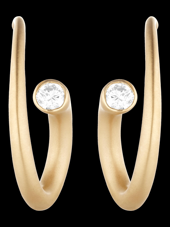 Whirl Diamond Spiral Earrings
