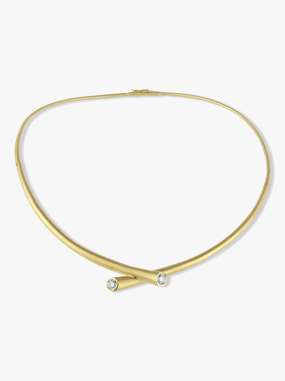 Carelle Whirl Diamond Collar Necklace 2