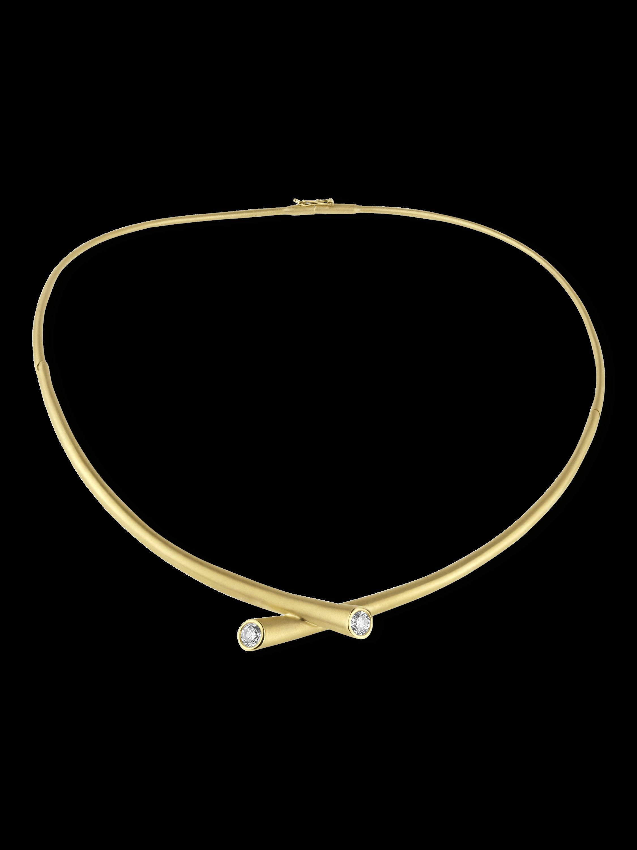 Whirl Diamond Collar Necklace