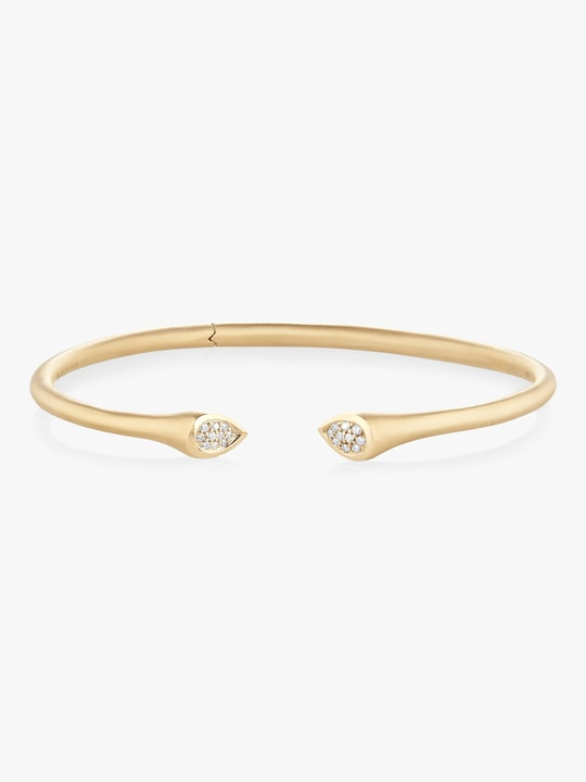 Carelle Whirl Clustered Diamond Bangle 0