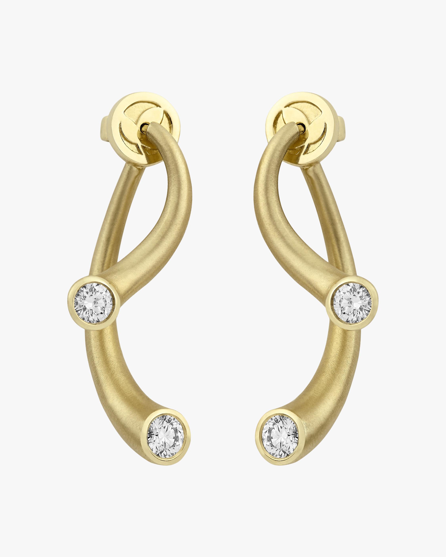 Carelle Whirl Diamond Earrings 0