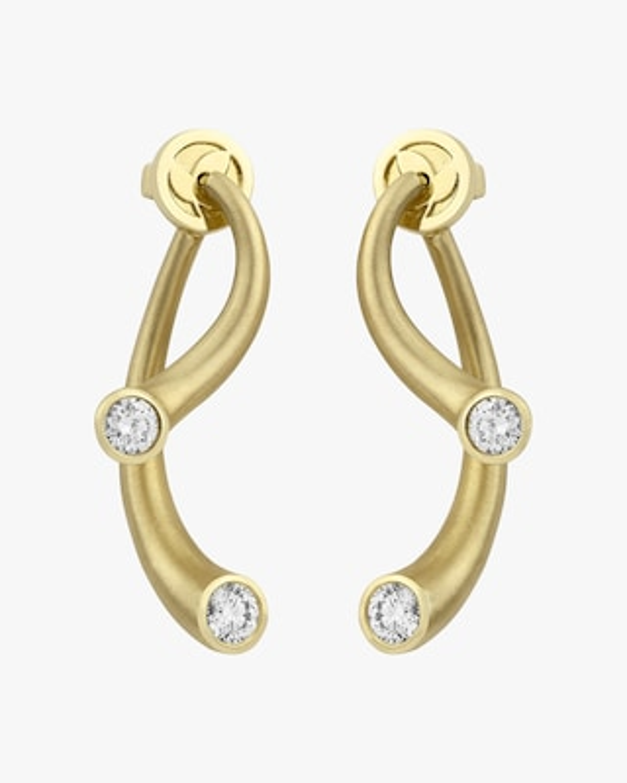 Carelle Whirl Diamond Earrings 2