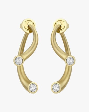Carelle Whirl Diamond Earrings 2