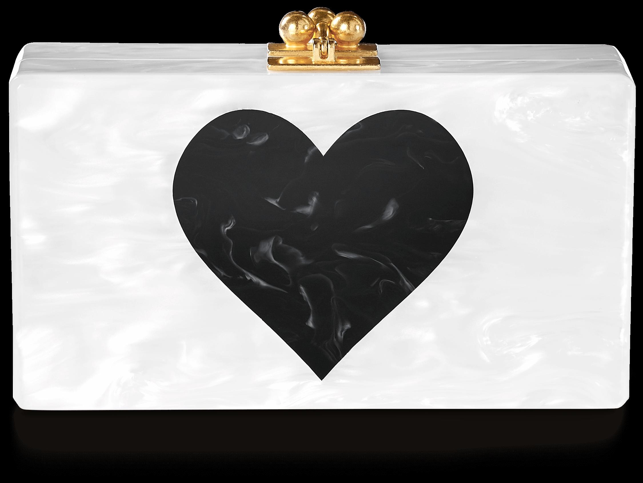 Jean Heart Clutch