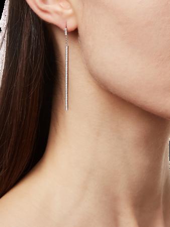 All Pave Diamond Stick Earrings