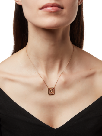 Small Piece Center Pave Swing Necklace