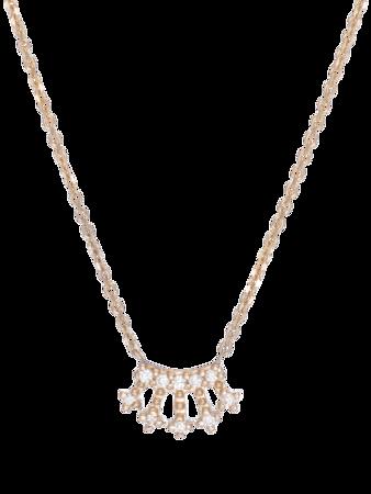 Mini Diamond Crown Necklace
