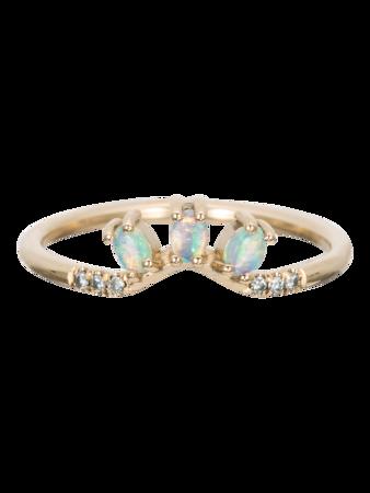Diamond Opal Trio Equilibrium Ring